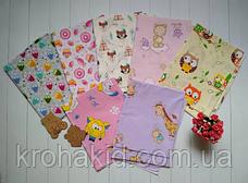 Набор пеленок бязь (4 шт) для девочки / для мальчика / универсальные - 90 х 110 см, фото 3