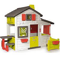 Домик с чердаком и дверным звонком Smoby 310209. Домик для детей