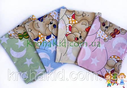 Набор пеленок бязь (4 шт) для девочки / для мальчика / универсальные - 90 х 110 см, фото 2