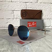 Солнцезащитные очки RAY BAN 3448 ROUND Polarized голубой