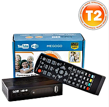 Цифровой тюнер Т2 MEGOGO приставка для просмотра цифрового телевидения DVB-T2, Wi-Fi, IPTV, USB