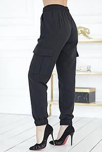 Черные джоггеры с карманами