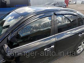 Ветровики, дефлекторы окон Hyundai Sonata NF Хюндай Соната 2005-2010 (Autoclover/Корея)