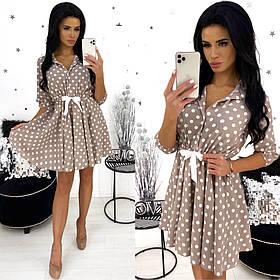 Платье в горошек / супер софт / Украина 24-1333