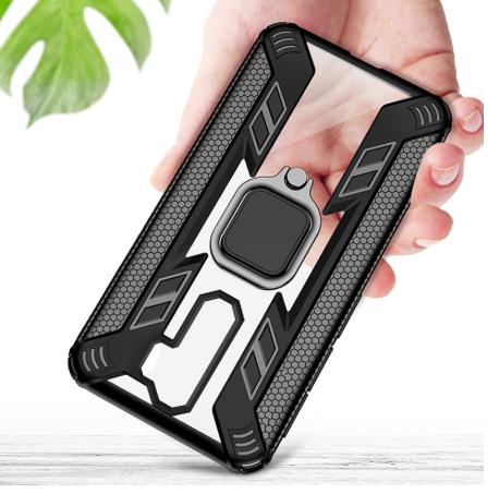 KEYSION защитный чехол Xiaomi Redmi Note 8 с кольцом с прозрачной вставкой Цвет Чёрный