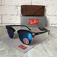 Солнцезащитные очки RAY BAN 3016 CLUBMASTER Polarized голубой