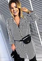 Женская рубашка в полоску / софт / Украина 37-1119, фото 1