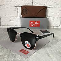 Солнцезащитные очки RAY BAN 3016 CLUBMASTER Polarized черный