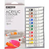 Краски акриловые «Art Ranger» 12 цветов «Acrylic» / фарби акрилові, 12 кольорів