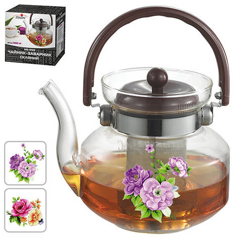 Чайник-заварник скляний 1л, MS-0133, фото 2