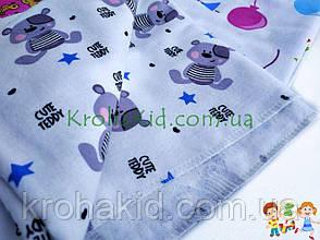 Набор детских пеленок байка (4 шт) для девочки / для мальчика / универсальные - 90 х 110 см, фото 3
