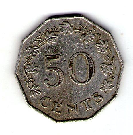 Мальта 50 центов 1972 год №30