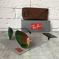 Солнцезащитные очки RAY BAN 3026 AVIATOR Polarized.розовый