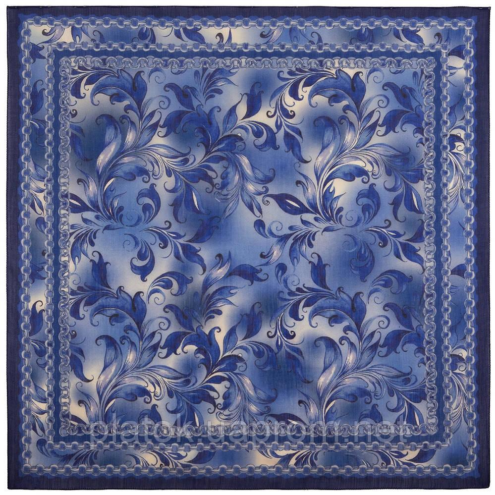 10321-14, павлопосадский платок шерстяной (разреженная шерсть) с швом зиг-заг