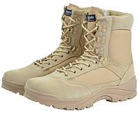 Берцы Ботинки тактические Tactical BOOT ZIPPER YKK цвет COYOTE Thinsulate MIL-TEC Германия