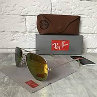 Солнцезащитные очки RAY BAN 3026 AVIATOR Polarized.желтый