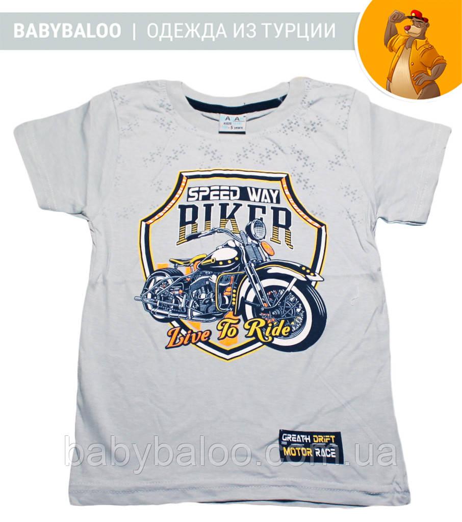 """Стильная футболка для мальчика """"BIKER"""" (от 5 до 8 лет)"""