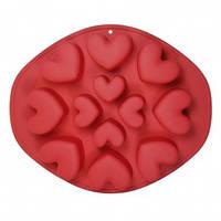 """Форма для випічки кексів """"серце"""" силікон Maestro MR-1056, фото 1"""