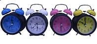 """Часы-будильник мет.""""Цветные"""", диам. 8,5см, 4в. //"""