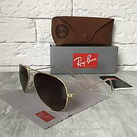 Солнцезащитные очки RAY BAN 3026 AVIATOR Polarized.коричневый