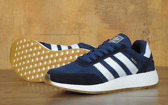 Мужские кроссовки Adidas Iniki Runner Boost Navy Blue/White, фото 3
