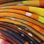 10863-4, павлопосадский платок шерстяной (разреженная шерсть) с швом зиг-заг, фото 6