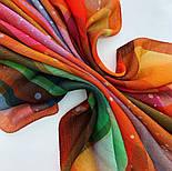 10863-4, павлопосадский платок шерстяной (разреженная шерсть) с швом зиг-заг, фото 7
