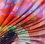 10863-4, павлопосадский платок шерстяной (разреженная шерсть) с швом зиг-заг, фото 4