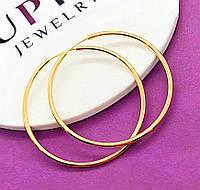 Женские серьги-кольца 4см из медицинского золота Xuping