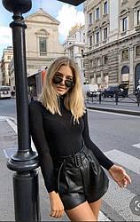 Кожаные шорты с поясом