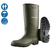 Сапоги резиновые защитные спецобувь для пищевых предприятий Dunlop Pricemastor (цвет зеленый) 380VP Голландия