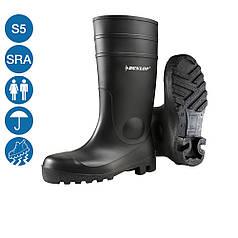 Резиновые сапоги ПВХ DUNLOP PROTOMASTOR 142PP водонепроницаемые антистатические защитный противоударный носок