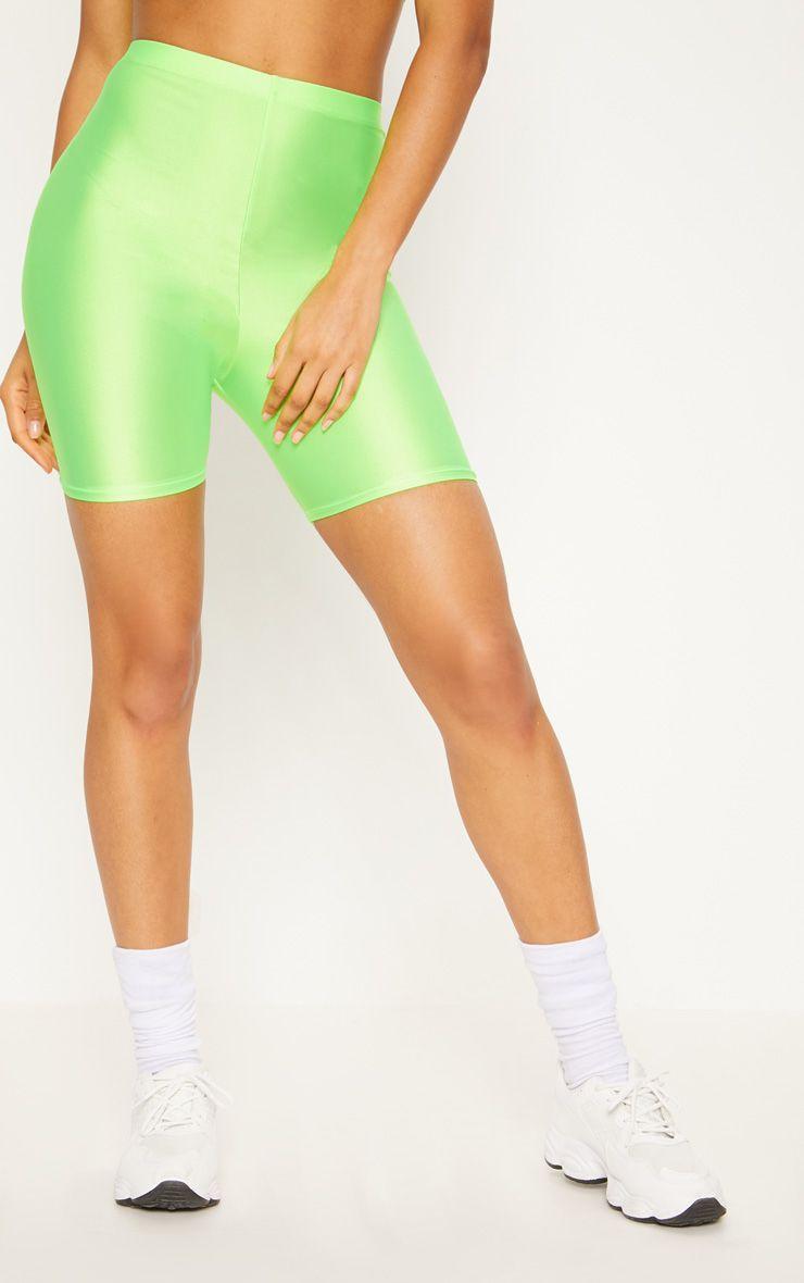 Женские спортивные шорты велосипедки  неоновый зеленый (размер 42, 44, 46, 48, 50 XS, S, M, L, XL)