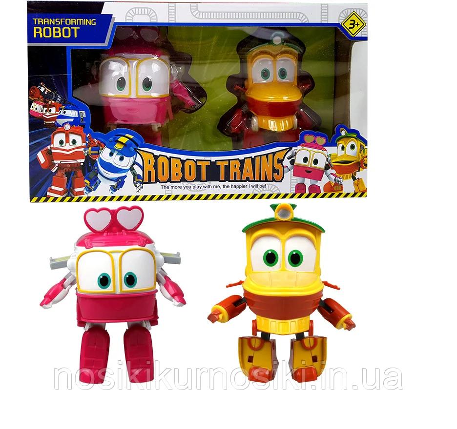 Игровой набор Robot Trains роботы поезда — 2 героя Duck (Дак, Утенок) Selly (Селли, Салли)