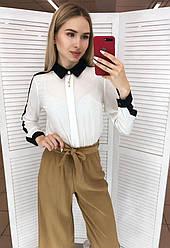 Блуза с отделкой