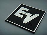 Шильдик, наклейка, логотип 50x48mm (алюминий) 1шт  на сетку колонки EV (Electro voice), фото 5