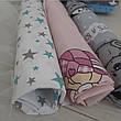 Набор пеленок бязь (3 шт) для девочки / для мальчика / универсальные - 90 х 110 см, фото 5