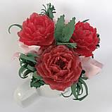 Букет з мильних квітів півонії Квіткова композиція з мила ручної роботи Мильний букет, фото 4