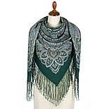 Знойный ветер 1888-9 , павлопосадский платок шерстяной (двуниточная шерсть) с шелковой вязаной бахромой, фото 2