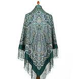 Знойный ветер 1888-9 , павлопосадский платок шерстяной (двуниточная шерсть) с шелковой вязаной бахромой, фото 3