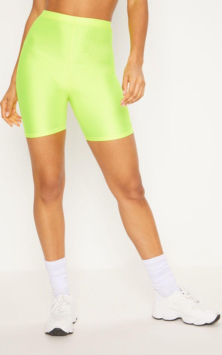 Женские спортивные шорты велосипедки  неоновый желтый (в размерах 42,44, 46,48, XS-XL)