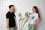 Женский домашний костюм Тропики, размер L, белая женская пижама (футболка и брюки), фото 5