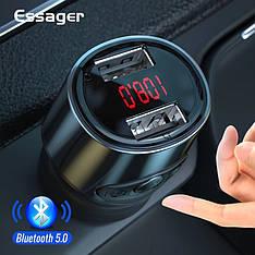 Автомобильный FM-трансмиттер Essager модулятор USB автомобильное зарядное устройство Black
