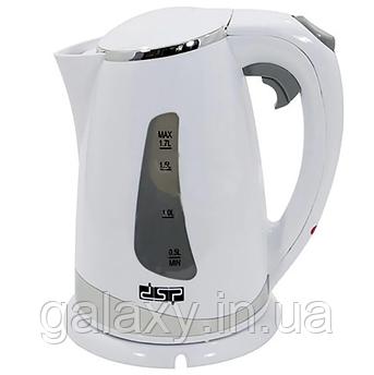 Чайник DSP электрический 2200 Ватт 1.7л  KK-1110 белый