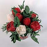 Букет з мильних кольорів тюльпанів Квіткова композиція з мила ручної роботи Мильний букет, фото 9