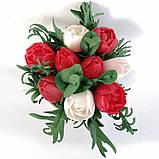 Букет з мильних кольорів тюльпанів Квіткова композиція з мила ручної роботи Мильний букет, фото 7