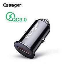Essager QC3.0 автомобильное зарядное устройство 5V 3A Black