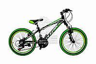 "Велосипед горный  20""  ""TITAN""  #SPACE  рама алюминиевая 11"", black-green-white ORIGINAL QUALITY"