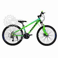 """Велосипед горный  24""""  """"TITAN""""  #FLASH  рама алюминиевая 12"""", green-blue-black ORIGINAL QUALITY"""