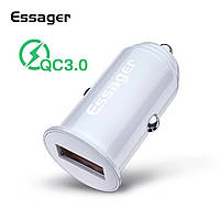 Essager QC3.0 автомобильное зарядное устройство 5V 3A White